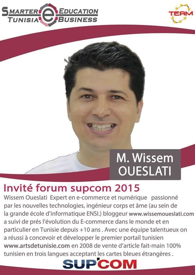 Wissem Oueslati invité Forum SUP COM 2015